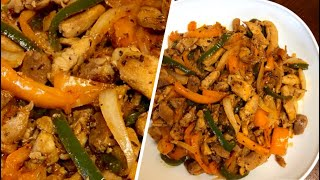 Stir Fry Chicken -10 Minutes Easy Dinner for Busy -Stir Fry Chicken Fajita -No Carbs Chicken Fajita