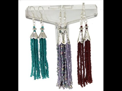 How To Make Beaded Tel Earrings