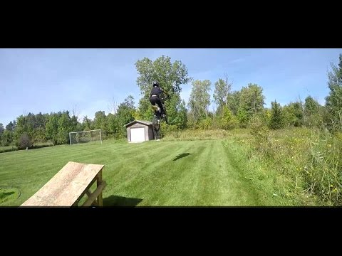 Awesome Homemade Motocross / Dirt bike Jump!!