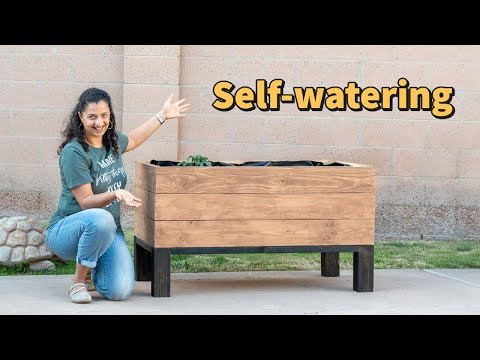 DIY Self-Watering Raised Planter Bed (Sub-irrigation system)