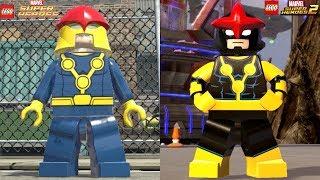 Lego Marvel Superheroes 1 VS Lego Marvel Superheroes 2 (All Characters Side by side)