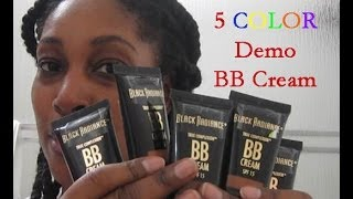 DEMO Black Radiance True Complexion BB Cream Cafe, Honey Amber, Chocolate, Brown Sugar, Coffee Glaze