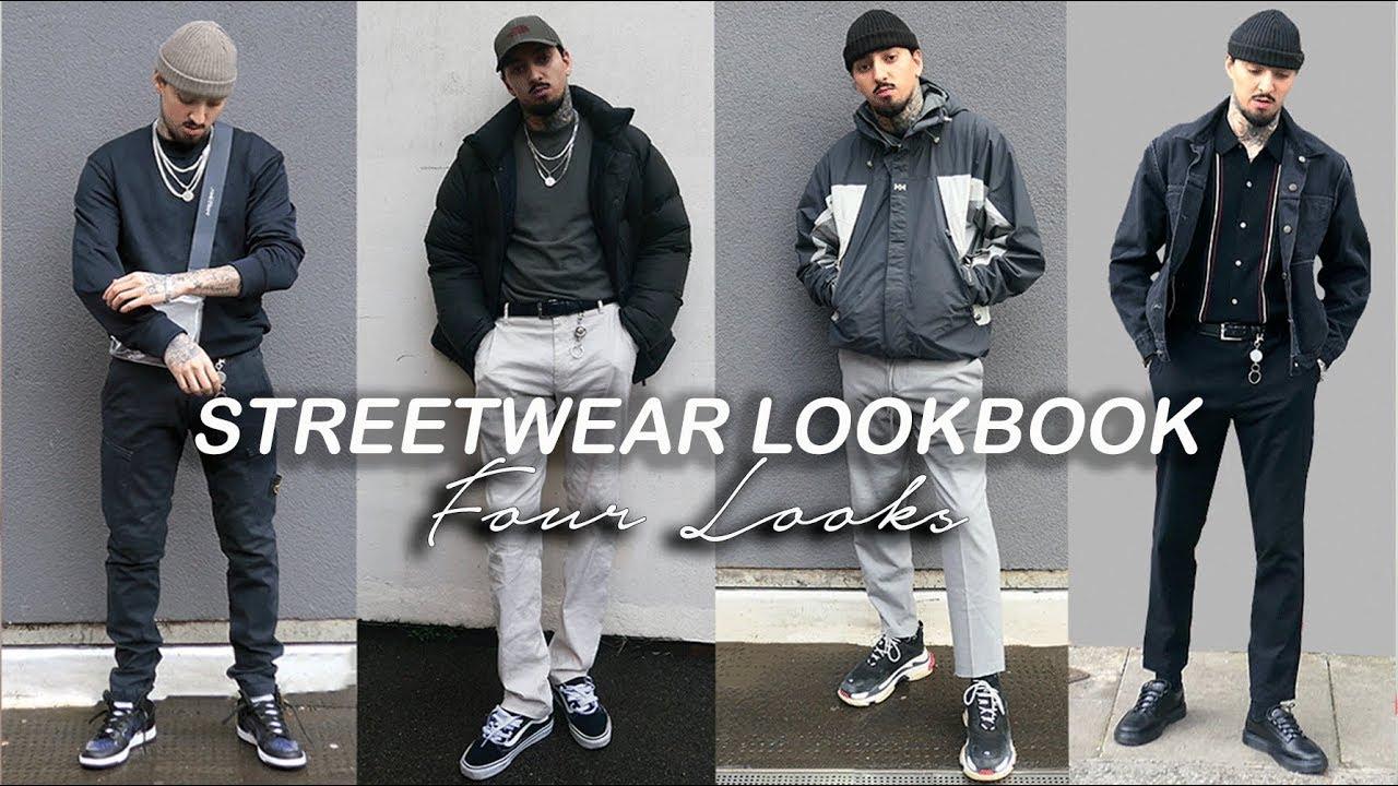 46dea9d4 STREETWEAR LOOKBOOK 2018 | Four Outfit Ideas | Men's Fashion 2018 ...