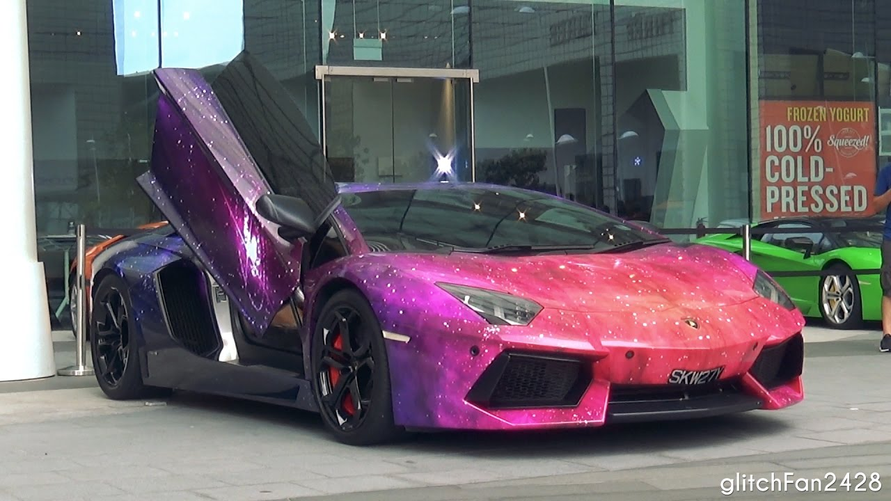 Galaxy Wrap Lamborghini Aventador Sounds Youtube