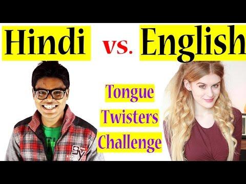 English Tongue Twisters Vs. Hindi Tongue Twisters (ft. Becca C)