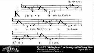 Kyrie XI from Mass XI, Gregorian Chant