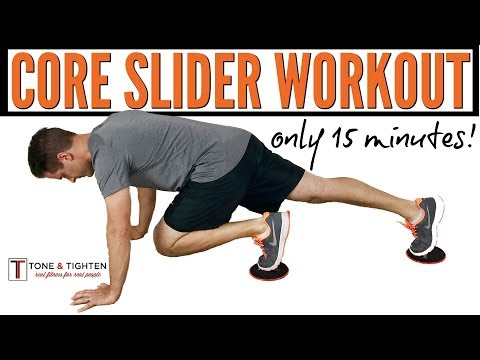 15-Minute Core Workout With Sliders - The Best Slider Exercises For A 6-pack Stomach