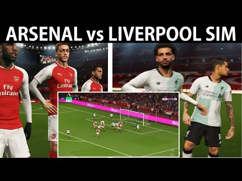 Arsenal vs Liverpool Realistic Simulation Highlights | PES 2018 | Emirates Stadium Cam | KnightMD
