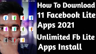 How To Download 11 Facebook Lite Apps 2021    Unlimited Fb Lite Apps Install    By Sozol Islam Sany screenshot 4