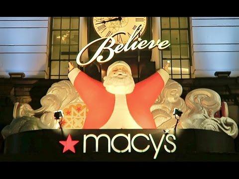 POSTMATES WALKER RUNS IN MANHATTAN PLUS THE MACY'S CHRISTMAS DISPLAY! (Viggo Bauman)