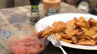 Картошка по деревенски Секретный соус Мясо осень интересные рецепты вкусно по есть