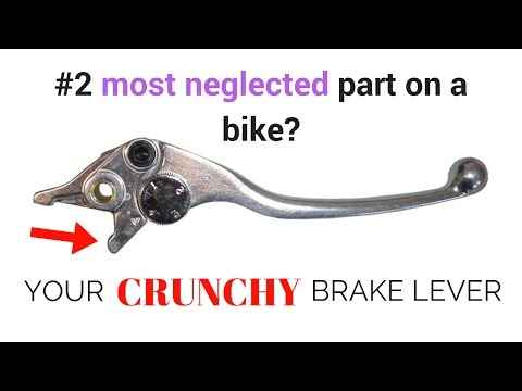 motorcycle brake lever lube
