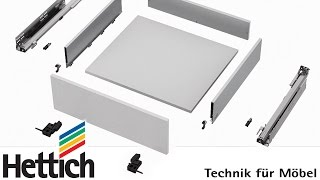 AvanTech drawer with Actro 5D runner: installation and adjustment