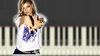 ? GLAMOROUS by FERGIE ft. LUDACRIS Synthesia Piano Tutorial ?