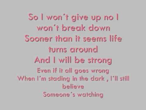 Hilary Duff- Someones Watching over me (Raise your voice) Lyrics