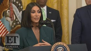 Kim Kardashian Talks Prison Reform At The White House | FULL SPEECH