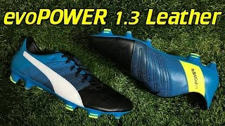 best service 00aff a0465 Puma evoPOWER 1.3 Leather Black Atomic Blue White - Review + On Feet -  Vloggest