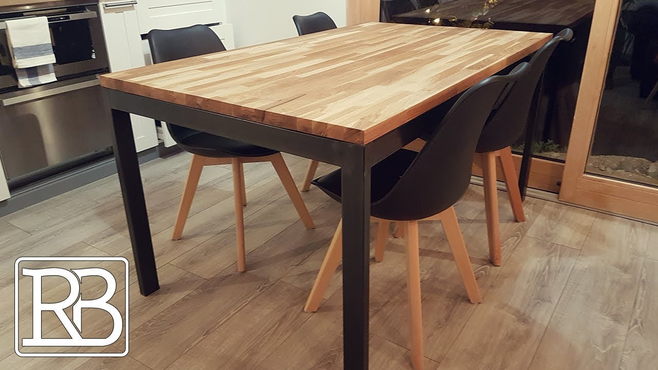 JE FABRIQUE UN PIETEMENT DE TABLE EN METAL- DIY // ⓇⒷ