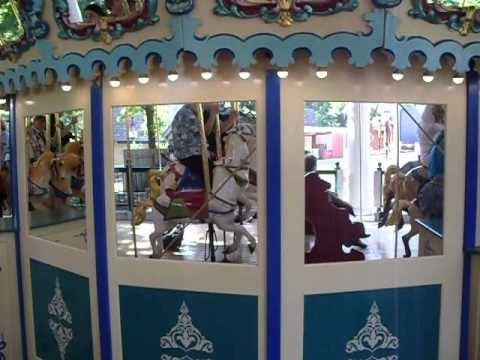 Riding the Worlds of Fun Illions Carousel