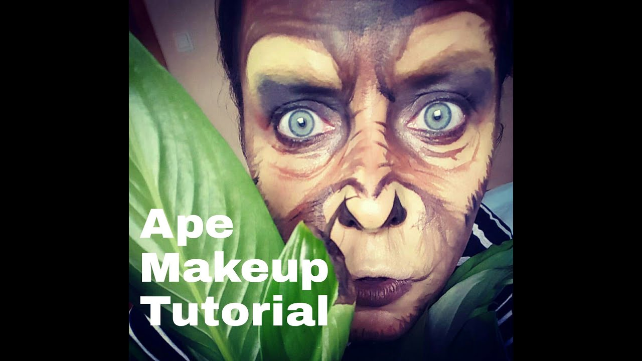 affen monkey makeup tutorial facepainting youtube. Black Bedroom Furniture Sets. Home Design Ideas