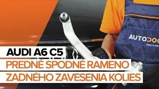 Ako vymeniť Rameno Zavesenia Kolies AUDI A6 Avant (4B5, C5) - online zadarmo video