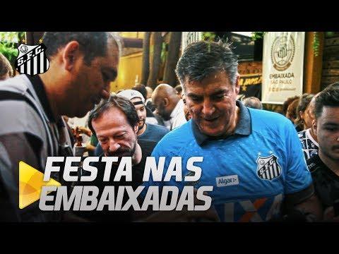 FESTAS E HOMENAGENS NAS EMBAIXADAS DO SANTOS FC