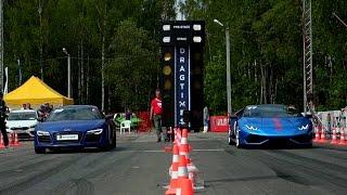 Lamborghini Huracan (stock) vs Audi R8 V10 (stock)