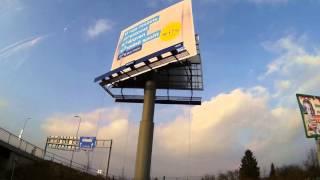 timelapse reklamní plachta - Alpský klub České Budějovice
