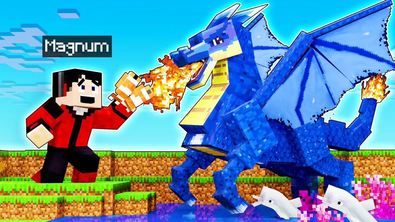 ENCONTRÉ AL DRAGÓN DEL MAR! 😱🤣 | Minecraft