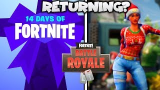 Fortnite FREE Rewards might be coming back... (14 Days Of Fortnite)