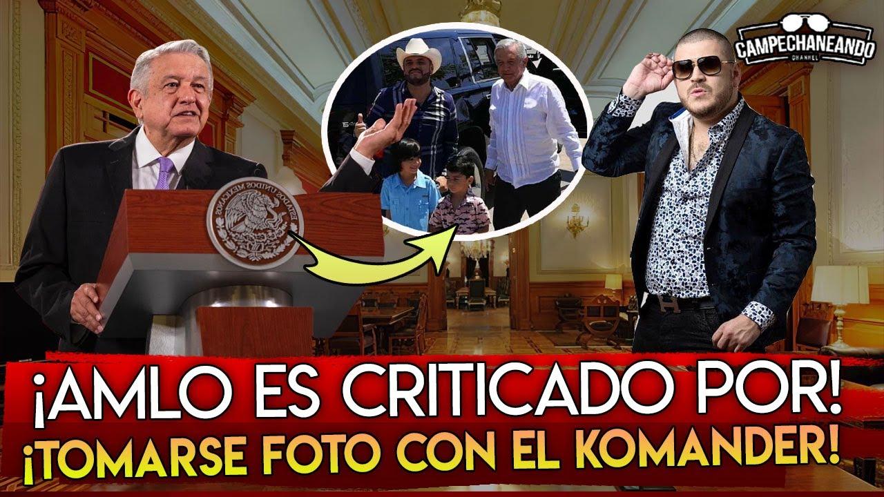 JUSTO AHORA! AMLO ES DURAMENTE SEÑALADO POR FOTO CON EL KOMANDER ¿SE VALE?