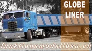 RC SEMI TRAILER TRUCK TAMIYA GLOBE LINER WITH TIPPER TRAILER