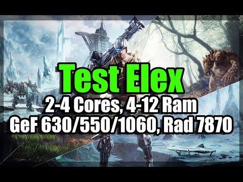 Тест Elex на слабом ПК (2-4 Cores, 4-12 Ram, GeForce 630/550/1060, Radeon 7870)