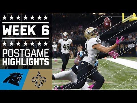 Panthers vs. Saints | NFL Week 6 Game Highlights