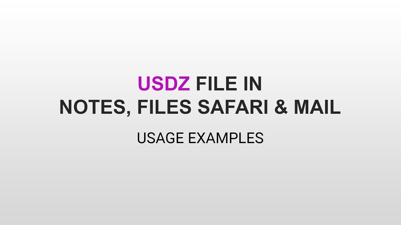 USDZ Usage Examples in iOS 12 Notes, Files, Safari & Mail