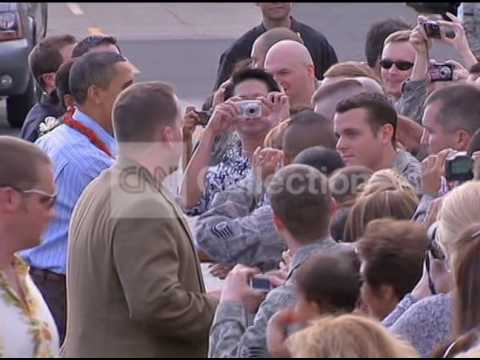 HAWAII OBAMAS ARRIVAL