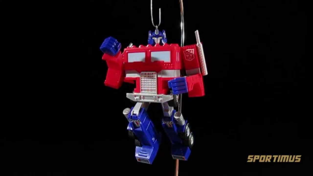 Hallmark 2014 Transformers Optimus Prime Keepsake Ornament - YouTube