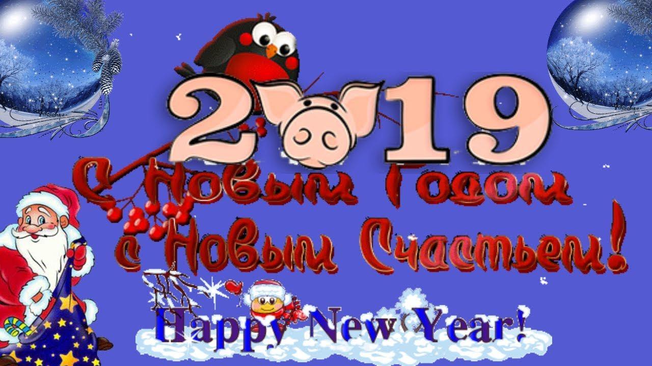 Короткие поздравления с Новым годом 2019 пожелание в новый год свиньи