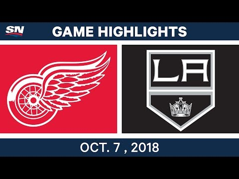 NHL Highlights | Red Wings vs. Kings - Oct. 7, 2018