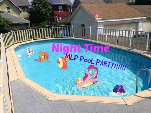 night time my little pony pool party youtube