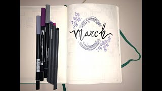PLAN WITH ME MARCH 2018   Bullet Journal