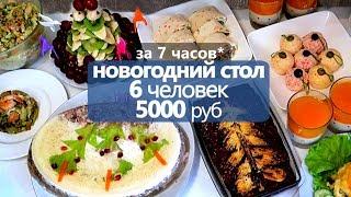 за 7 часов: НОВОГОДНИЙ СТОЛ на 5000 РУБ 🎄 на 6 ЧЕЛОВЕК