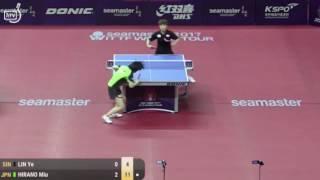 卓球、2017韓国オープン 平野美宇 vs LIN Ye (シンガポール) thumbnail