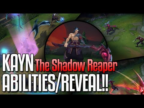 KAYN ALL ABILITIES REVEALED!! The Shadow Reaper New Champion - League of Legends