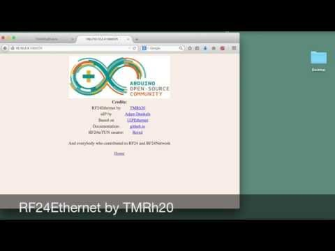 RF24Ethernet - TCP/IP for nrf24l01+ radios over RF24Network
