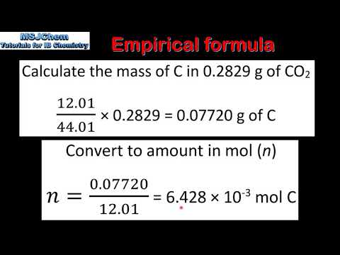 1.2 Calculating empirical formula from combustion analysis