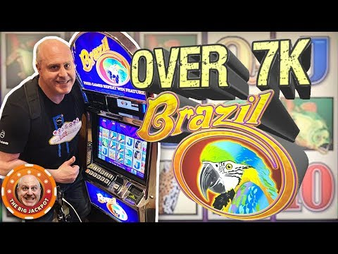 HUGE JACKPOT on BRAZIL! 🐠High Limit Free Games! 🎰| The Big Jackpot