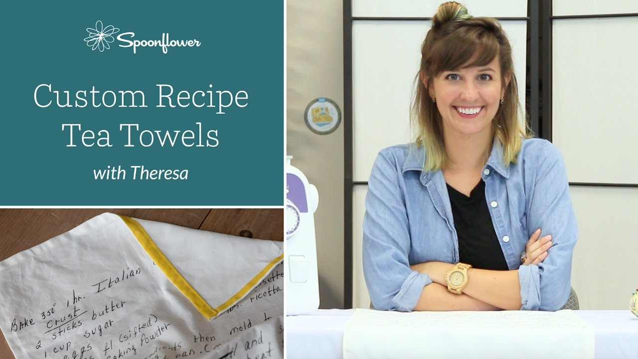 How to: Turn Handwritten Recipes into Tea Towels   Spoonflower