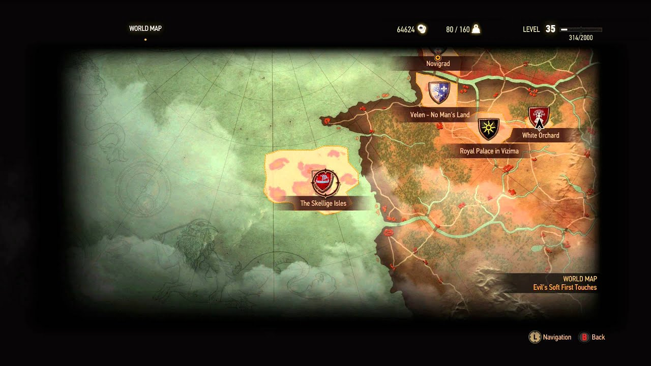 Map / Fast Travel: The Witcher 3 Wild Hunt - YouTube