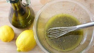 Lemony Olive Oil Dressing
